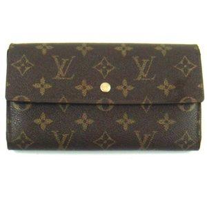 Louis Vuitton Brown International Canvas Wallet